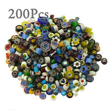 200Pcs Assorted Color Venice hand fusible glass beads Tiles charms 100g/Pack