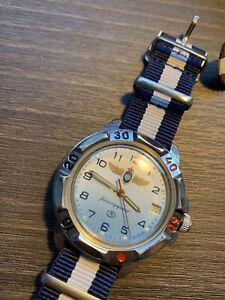 vintage russian watch, Soviet Wristwatch, Komandirskie.
