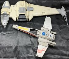 Vintage Star Wars Lot B Wing Fighter Ship 1984 Kenner & X-Wing 1978 Lights Work