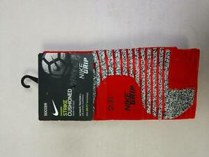 Nike Grip Strike Cushioned Over The Calf Soccer Socks Red Mens 6-7.5