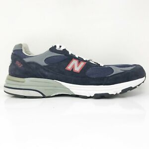 New Balance Mens 993 MR993CGD Blue Gray Running Shoes Lace Up Low Top Size 14 B