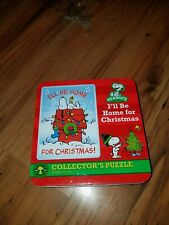 """Peanuts Puzzle Snoopy """"I'll be home for Christmas"""" Collector's Puzzle 550 pcs."""