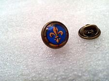 PIN'S FLEUR DE LYS LIS ROYAUTE MONARCHIE ROYAL PINS pin's bouton épinglette
