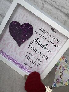 Personalised Friendship Quote Gift Frame - Side By Side