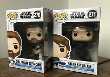 Star Wars Funko POP Anakin Skywalker #271 Obi Wan Kenobi #270 U.K. In Hand