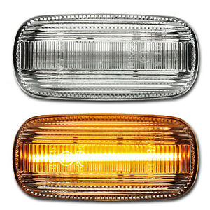WEISSE LED Seitenblinker Audi A3 Sportback S3 A4 S4 Cabrio RS4 A6 S6 RS6 Avant