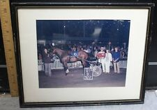 "Vernon Downs 1972 Model Knight Russ White Framed Matted Photo Print 8 X 10"" (m)"