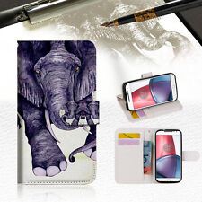 Elephant Wallet TPU Case Cover For Motorola Moto X Force-- A007