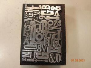 Printing Letterpress Printer Block Decorative Collage Print Cut