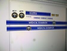 Big City New York Medical Examiner Van Decals 64 scale two for one money