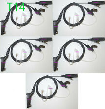 5x Black Surveillance Kit Accessories Headset For Motorola XPR6550,XPR6580 Radio