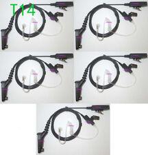 5x Black Surveillance Kit Accessories Headset For Motorola XPR6550,XPR6580 Radio