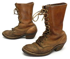 WHITES Boots 8 D Mens Leather Lace Up PACKER Rancher Cowboy Boots Smoke Jumper