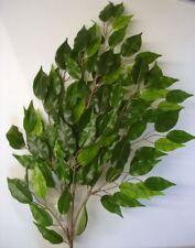 New 6 Stems Hawian Green Ficus Leaf Spray Silk Flowers Foliage Bulk Buy Deal