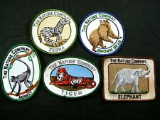 5 The Nature Company Mammal Patches Zebra Brown Bear Monkey Tiger Elephant New