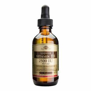 Liquid Vitamin D3 2500 IU (62.5 mcg) - Natural Orange Flavour - 59ml UK Seller!