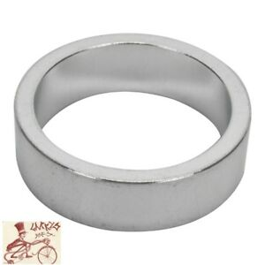 """ORIGIN8 ALLOY 10mm x 1-1/8""""  SILVER BICYCLE HEADSET SPACERS--BAG OF 10"""