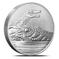 2019 $2 Mother & Baby Crocodile 2 oz Piedfort Silver Coin Perth Mint