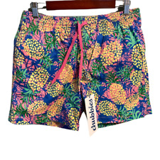 New listing Chubbies Mens Classic Trunks Swim Shorts Multicolor Pineapple Drawstring L New