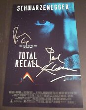 "TOTAL RECALL Cast(x2) Authentic Hand-Signed ""Ronny Cox"" 11x17 Photo"