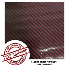 Hydrographic Film Water Transfer Hydro Dipping Dip Film 1M Dark Red Carbon Fiber