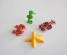 PLAYMOBIL (Z315) MER - Lot Crabe, Etoile de Mer, Hippocampe & Homard Marron