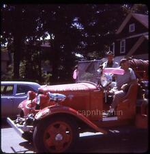 Old SHINGLEHOUSE PA Ford Fire Truck Firefighting Vintage 1972 Slide Photo