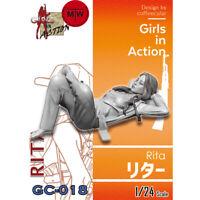 ZLPLA Genuine 1/24 Rita Girls in Action Resin Figure Assembly Model Kits GC-018