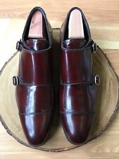 To Boot New York BAILEY Bordeaux Brown Double Monk Strap Cap Toe Shoes 11.5 *