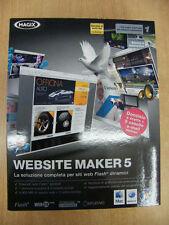 WEBSITE MAKER 5 MAGIX SOFTWARE NUOVO WINDOWS XP VISTA 7 MAC