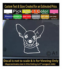 Chiwawa pet dog animal 6 inch decal funny sticker car laptop decor more 267Swap2