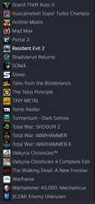Steam Account  980 euros Value 33 games + DLC