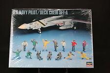 XO022 HASEGAWA 1/48 figurine 36006 US Navy pilot Deck crew set A diorama avion