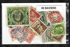Bavière 50 timbres différents oblitérés