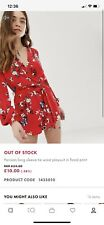 Asos Parisian Summer Playsuit Size 12 (fit Size 10 To 12) Flowery, Festival