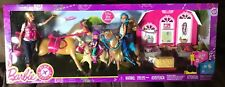 Barbie Pink Passport Horses And Ranch Gift set Free Shipping New