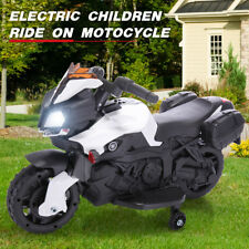 Kids Ride On Motorcycle 6V Battery Powered Bicycle Electric Toy W/Training Wheel