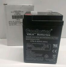 NEW IN BOX! COOPOWER 6V 5.0Ah SEALED LEAD-ACID RECHARGEABLE BATTERY 5EFG4