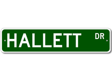 HALLETT Street Sign - Personalized Last Name Sign