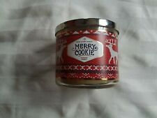 Bath & Body Works Merry Cookie 3 Wick Scented Candle 14.5 oz.