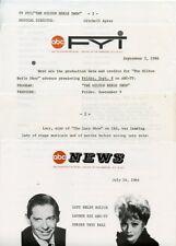 LUCILLE BALL MILTON BERLE MILTON BERLE SHOW ORIGINAL 1966 ABC TV PRESS MATERIAL