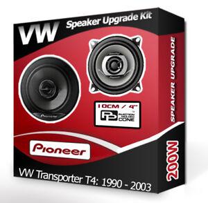 "VW Transporter T4 Front Dash speakers Pioneer 4"" 10cm car speaker kit 200W"