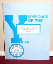 Speeches of the Year A Dedication to Faith by Boyd K. Packer 1969 BYU MORMON PB