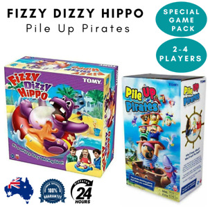 Tomy Fizzy Dizzy Hippo Pile Up Pirates Stacking Funny Games for Kid Family 2Pack