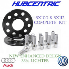 (2) 5x100 5x112 WHEEL SPACERS KIT 12MM THICK VW AUDI 14X1.5 LUG BOLTS 57.1 HUB
