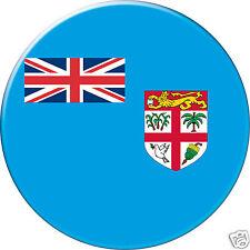 5 x sticker 5cm auto moto velo valise pc portable drapeau Rond Fidji