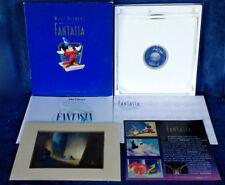 DISNEY'S FANTASIA - DELUXE CAV LASERDISCS - (3) DISCS, PROGRAM, LITHOGRAPH, COA