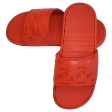 NWT PUMA Authentic Men's Red Cool Cat Bold 2 Summer Slides Sandals Size 10