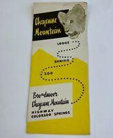 Vintage Brochure Colorado Springs History Advertising Cheyenne Mountain Zoo