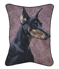 Doberman Pinscher Rectangular Tapestry Pillow ~ Artist, Linda Picken